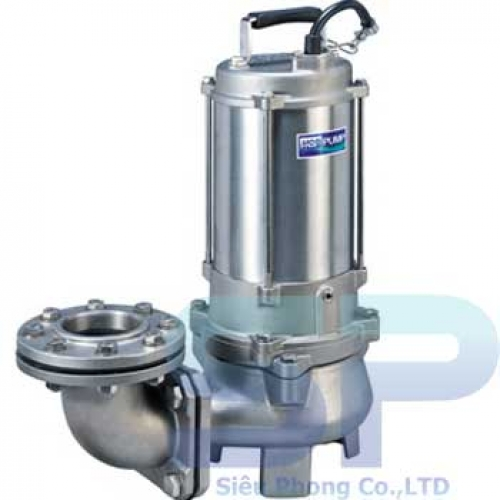 Máy Bơm Chìm Hút Nước Thải INOX Đúc 316 HCP 80SFU25.5 7.5HP